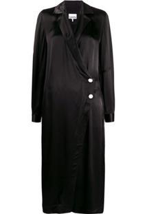 Ganni Vestido Envelope - Preto