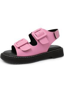 Sandália Damannu Shoes Kitty Napa Rosa