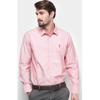 11bc89d815 Camisa Manga Longa Aleatory Slim Fit Micro Listras Masculina -  Masculino-Vermelho+Branco