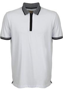 Camisa Polo Seeder Com Ziper Branca