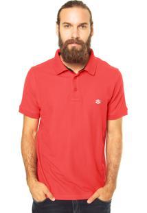 Camisa Polo Zebra Cone Pique Vermelha