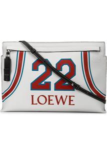 Loewe Bolsa Clutch '22' De Couro - Branco