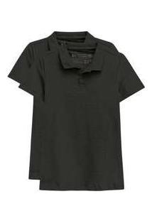Kit De 2 Camisas Polo Femininas