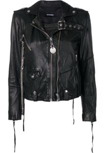 Diesel Washed Biker Jacket - Preto