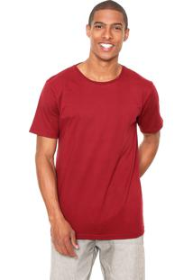 Camiseta Fiveblu Manga Curta Basic Essentials Vinho