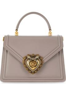 Dolce & Gabbana Bolsa 'Devotion' Média - Cinza