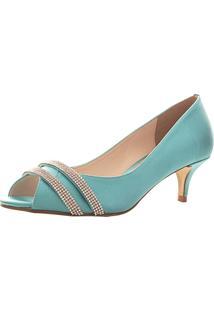 Peep Toe Santa Scarpa Ss21 Tiffany Verde