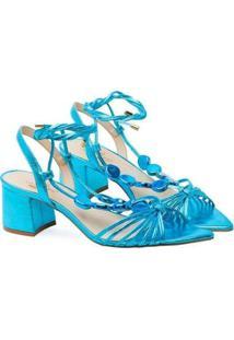 Sandália Saltare Charlotte Low Feminina - Feminino-Azul