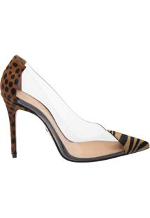 Scarpin Vinil Animal Print Yellow | Schutz