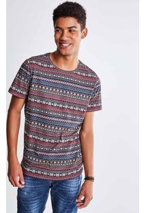 Camiseta Estampa Étnica