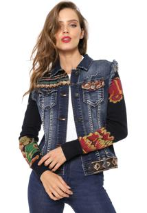 Jaqueta Jeans Desigual Ceci Azul