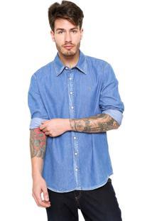 Camisa Zoomp Botões Azul
