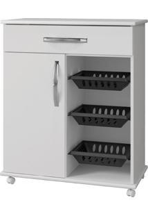 Armário Cozinha Com Fruteira Goiânia Arte Móveis -Preto