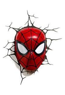 Luminaria Homem Aranha 3D Marvel Plastico Vermelho