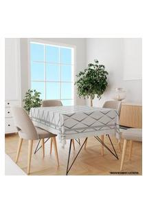 Toalha De Mesa Quadrada Para 4 Lugares Abstrato Moderno 1.45M X 1.45M Único