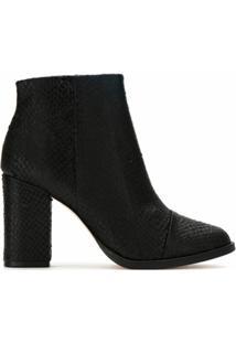 Osklen Ankle Boot De Couro Texturizada - Preto
