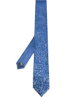 Lanvin Gravata Com Padronagem - Azul