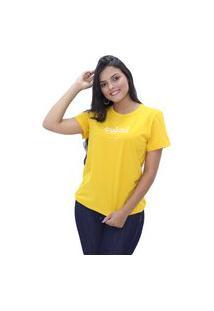 Blusa Feminina Com Estampa T-Shirt Colcci Original Novidade Amarelo