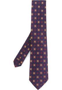 Etro Gravata De Seda Com Padronagem Geométrica - Estampado