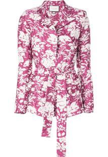 Alexis Blazer Com Estampa Floral 'Raquelle' - Rosa