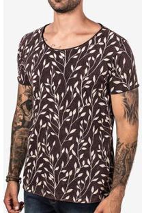 Camiseta Hermoso Compadre Galhos Marmorizada Masculina - Masculino-Marrom