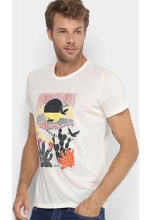 Camiseta Colcci Estampada Masculina - Masculino-Off White