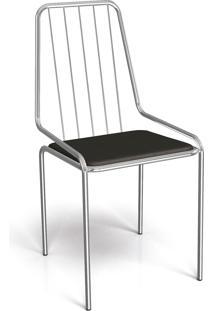 Cadeira Benim Cromada De Metal Preto Kappesberg - Preto - Dafiti