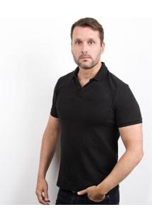 Camiseta Polo 4You Adulta Masculina - Masculino-Preto