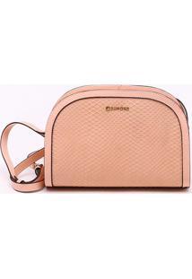 Bolsa Shoulder Bag Couro Rosa Pêssego