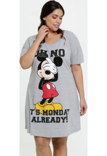 Camisola Feminina Estampa Mickey Plus Size Disney