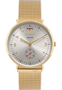 Relógio Technos Slim Analógico Dourado 1L45Az4B - Kanui