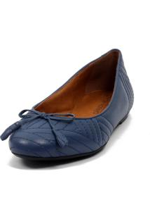 Sapatilha Cláudia Mourão (Ar8679) Couro Azul