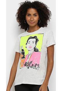Camiseta Coca Cola Always Shiping Feminina - Feminino-Mescla