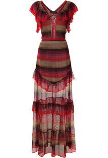 Cecilia Prado Vestido Longo Mariliza De Tricô - Estampado
