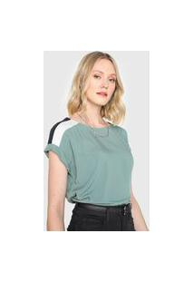 Blusa Marialícia Color Block Verde