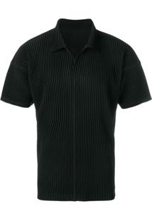 Homme Plissé Issey Miyake Camisa Mangas Curtas - Preto