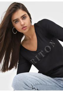 Camiseta Triton Gola V Preta