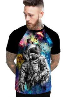 Camiseta Stompy Raglan Modelo 190 Masculina - Masculino-Preto