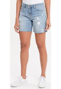 Bermuda Jeans Five Pockets - Azul Claro - 36