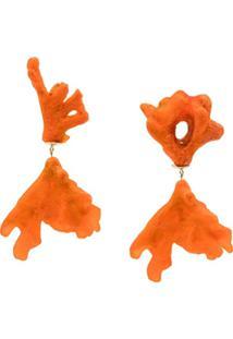 Dinosaur Designs Coral Swirl Drop Earrings - Laranja
