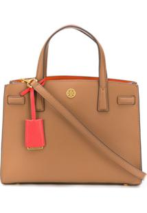 Tory Burch Walker Satchel Tote - Marrom