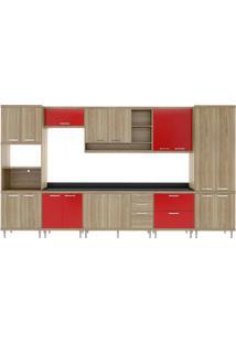 Cozinha Compacta Multimóveis Sicília 5833.132.694.610 Argila Vermelho Se