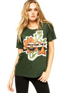 Blusa Animale Flower Verde