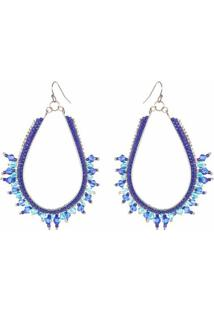Brinco Carol - Feminino-Azul