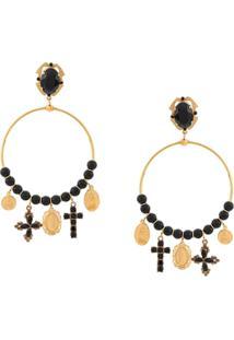Dolce & Gabbana Par De Brincos De Argola - Dourado