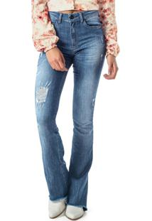 Calça Azul Boot Cut Jeans