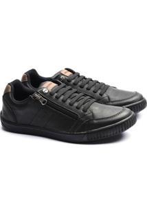 Sapatenis Ped Shoes Zíper Lateral Masculino - Masculino-Preto