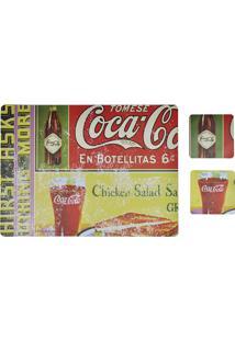 Jogo Americano E Porta Copos Coca-Cola En Botellitas
