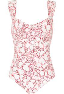 Marysia Lehi Floral-Print Swimsuit - Branco