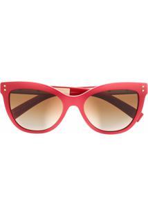 Valentino Eyewear Óculos De Sol Gatinho Va4049 - Vermelho